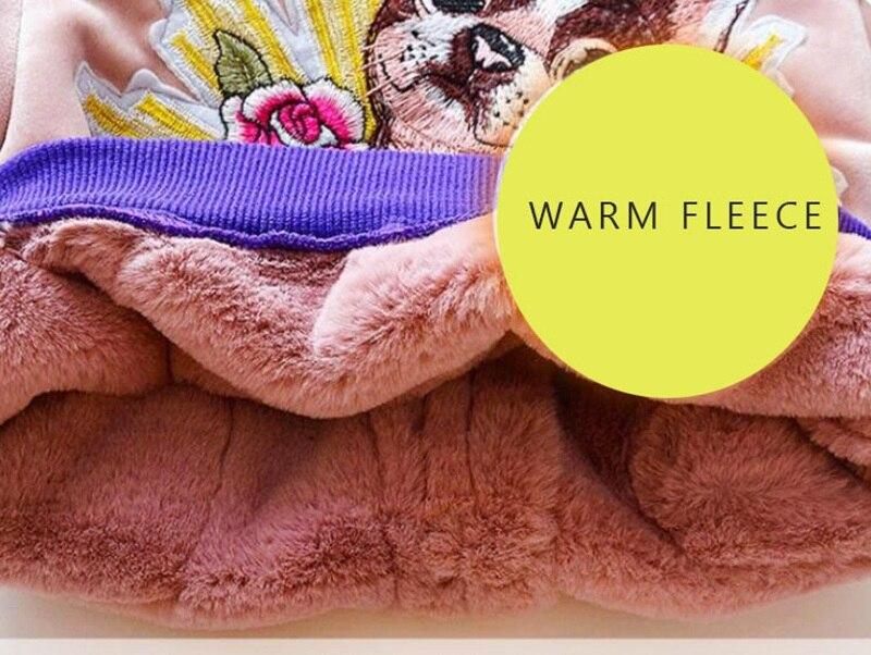 CROAL CHERIE Cute Dogs Kids Girls Jackets Baby Girls Fur Coat Children Winter Outerwear & Coats Thicken FLeece Girls Clothes  (9)