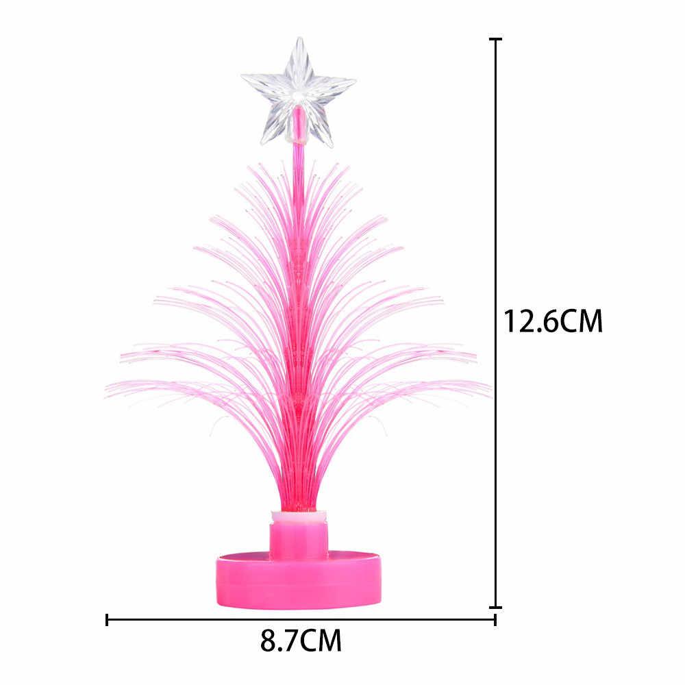 Accessori decorazione della casa Buon Cambiamento di Colore del LED Di Natale Mini Albero di Natale Da Tavolo di Casa Partito Decor Charm decorazione della stanza 116