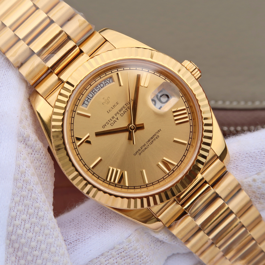 Mens Gold Watch Geneva Top Brand luxury watch men japan miyota quartz watch men waterproof AAA wrist watch montre homme 2019(China)