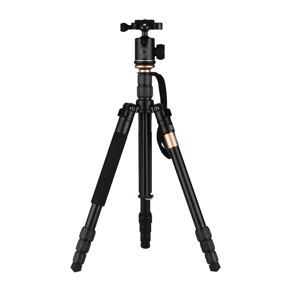 Portable Q999S Tripod For Camera Lightweight Profesional Camera Tripod Monopod W/QZSD-06 Ball Head For SLR Camera Tripod