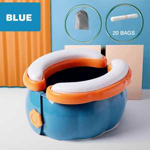 Toddler Potty Liners Toilet-Commode Folding Travel Disposable Long-Trips Camping