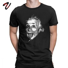 Geek Tshirt Mannen Albert Einstein T-shirt E = Mc2 Mythic Awesome Korte Mouw O-hals T-shirt Plus Size T-shirt premium Katoen Tops(China)