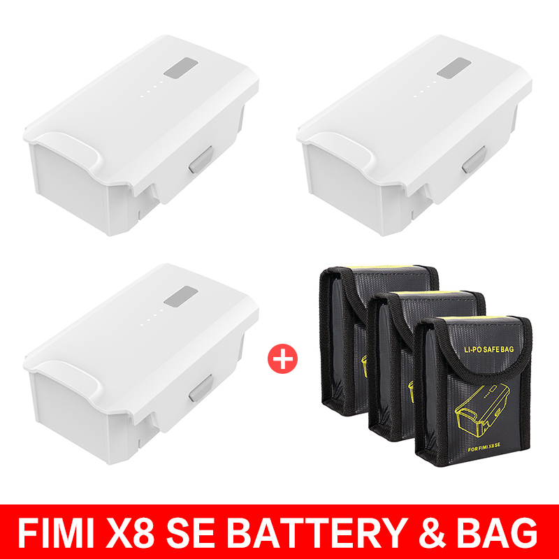 Original FIMI X8 SE Battery 11.4V 4500mAh Intelligent Flight Battery Lipo Battery Safe Bag Fire Protection Pouch Case Cover