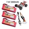 Для Wltoys 144001 car 2s модернизированная литий-полимерная батарея 7,4 В 3500 мАч T-образный разъем для Wltoys 1/14 144001 литий-полимерный аккумулятор для ради...