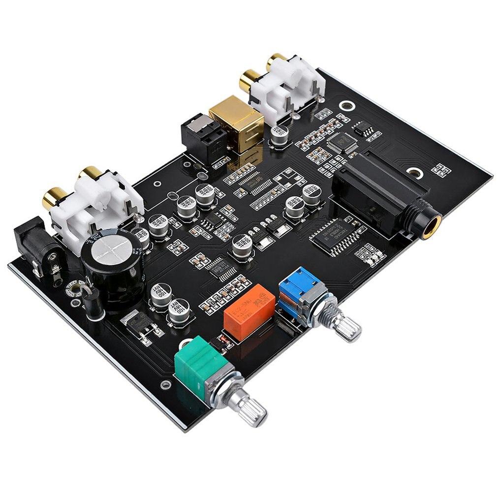 DC12V DPCM5100 DAC kurulu MS8416 koaksiyel Fiber optik USB amplifikatör ses ses kontrolü dekoder kurulu için DIY ev sineması title=