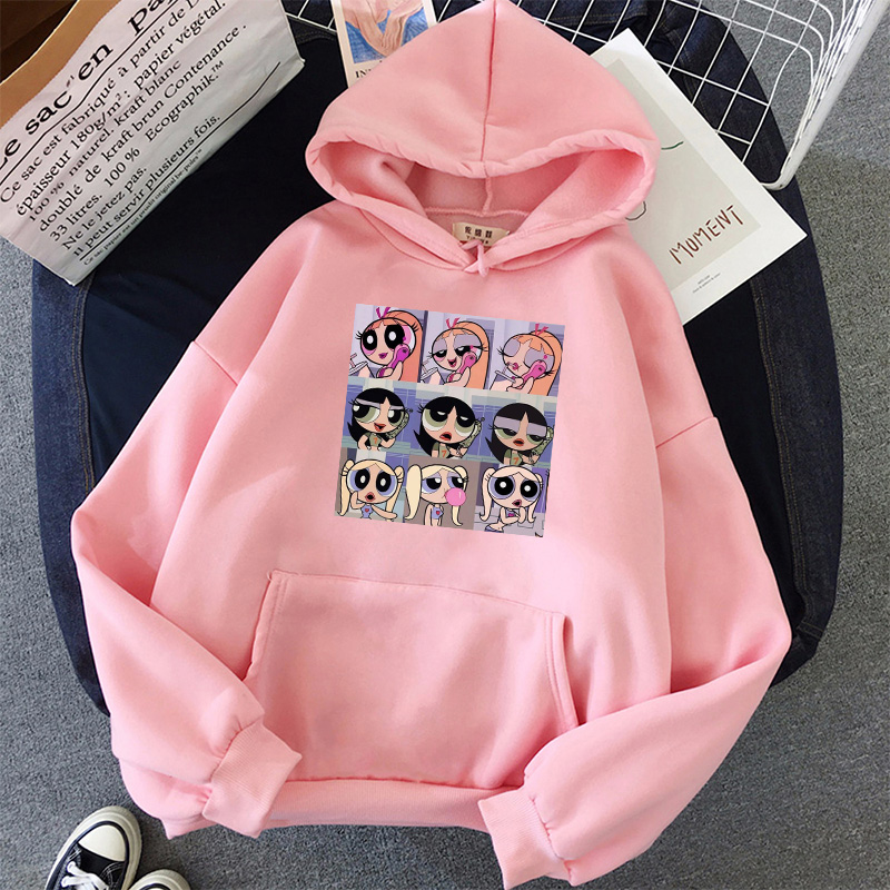 oversized Sweatshirt spring Streetwear Printing Hoodies Pullovers 2020 Fashion Harajuku Winter Hoodie Women Loose Korean Style 15
