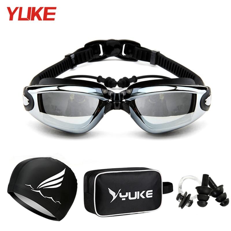 Swimming Goggles bag Earplug Professional Adult Silicone Swim Cap Pool Glasses anti fog Men Women kid Optical waterproof Eyewear Swimming Eyewear  - AliExpress