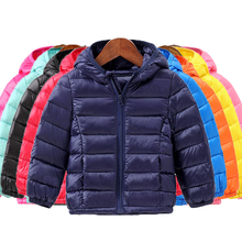 цена 90% White Duck Down 2019 New Children Winter Jackets Kids Duck Down Coat Baby Jacket for Girls Parka Outerwear Hoodies Boys Coat онлайн в 2017 году