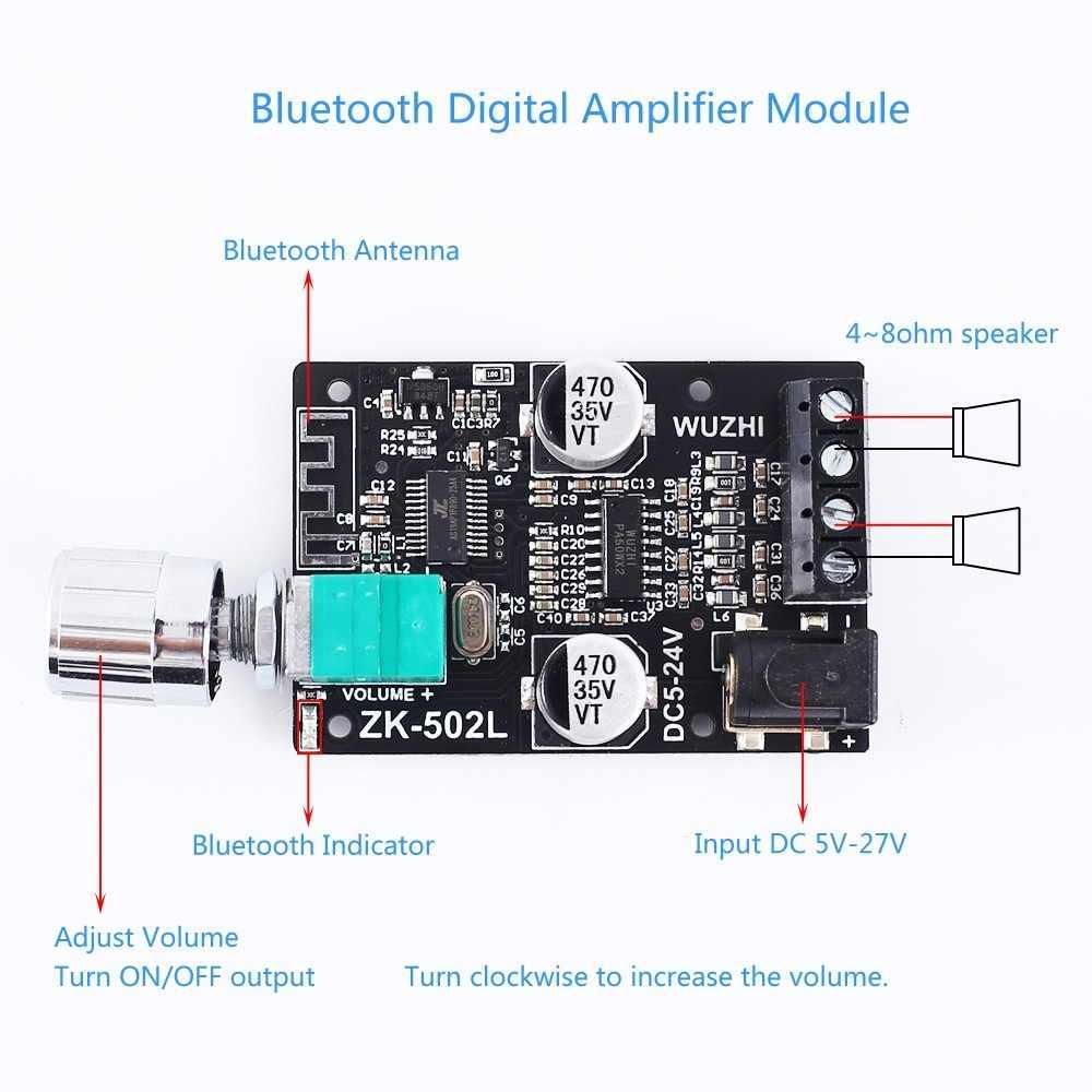 Bluetooth אודיו סטריאו מודול BLE5.0 HIFI 2.0 סטריאו דיגיטלי מגבר מודול ידית מתכוונן נפח מתג 50W + 50W עם מקרה
