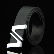 PU Leather Mens Belts Automatic Buckle Fashion For Men Business Popular Male Brand Black Luxury Waist Belt for men