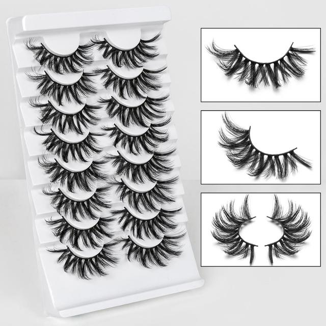 SEXYSHEEP 4/8 pairs 3D Mink Lashes Natural False Eyelashes Dramatic Volume Fake Lashes Makeup Eyelash Extension Silk Eyelashes 2