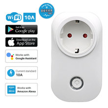 WiFi Smart Socket Power outlet Multi Brazil Plug With Energy Monitor Tuya APP Control Compatible with Alexa and Google Home