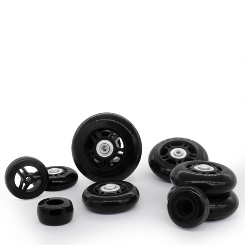 Black Suitcase Wheels 2 Sets Luggage Suitcase Replacement Wheel Repair Tool Casters Diameter 60-76mm Suitcase Parts Accessories