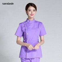 Sanxiaxin костюм медсестры сплит костюм мужского и женского пола одежда для врачей для палаты интенсивного лечения Стоматологическая ирригатор для полости рта летние хирургии хирургической стирки одежды для ролевых игр, медсестра