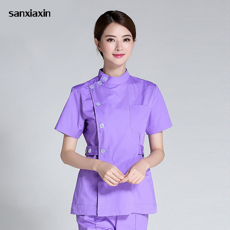Sanxiaxin Nurse Suit Split Suit Male And Female Doctors Wear ICU Dental Oral Summer Surgery Surgical Wash Clothes Nurse Uniform