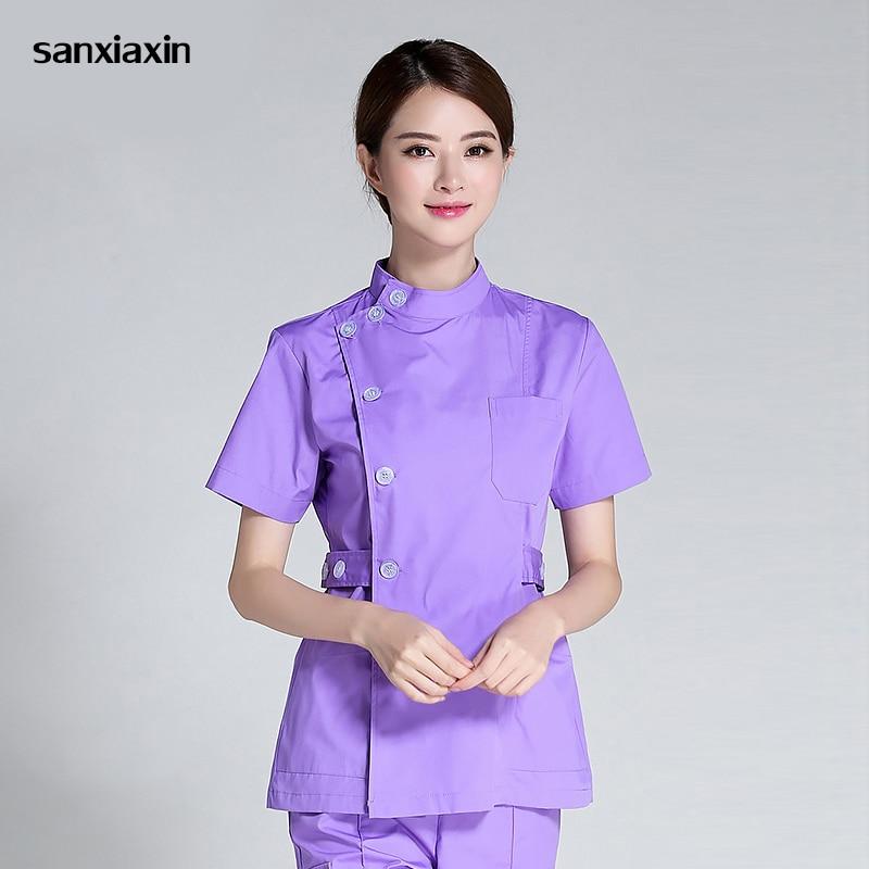 Sanxiaxin Nurse Suit Split Suit Male And Female Doctors Wear ICU Dental Oral Summer Surgery Surgical Wash Clothes Nurse Uniform