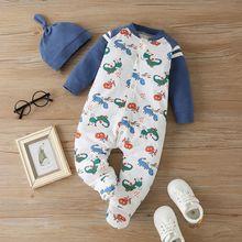 Комбинезон для новорожденных мальчиков 2 предмета мультяшный