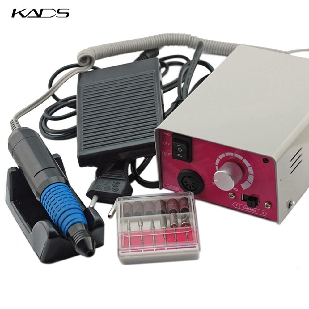 KADS Professional Electric Nail Drill Machine Kit For Manicure Pedicure Files Drill Accessory Nail Equipment Manicure Machine