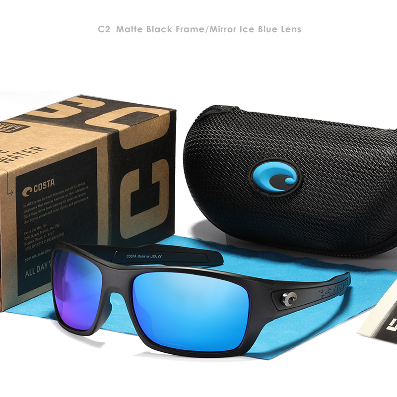 Square Glasses 3d-Logo Fishing Summer Shades Eyewear Mirrored-Lens Metal Design Men Brand