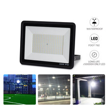 Luz LED de inundación AC165-265V, 10W/20W/30W/50W/100W/150W/200W, proyección remota para sitio de construcción, estadio
