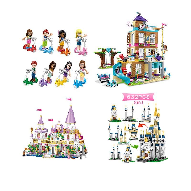 Girls With Legoinglys Friends QL1106 731PCS Building Blocks Princess Windsor Castle Technic Designer Bricks Toys Girl