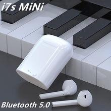 I7s MiNi yüksek maç Bluetooth kulaklık müzik kulaklık spor su geçirmez kulaklık için uygun tüm akıllı telefonlar için kablosuz kulaklıklar