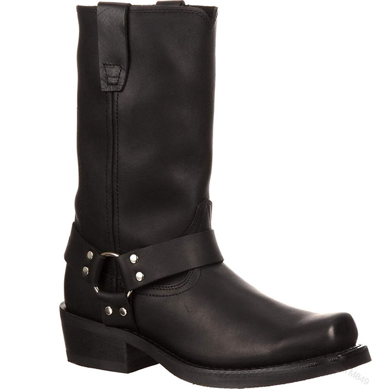 Woman Knee High Boots Combat Vintage Leather Boots Rider Horse Boot (3)