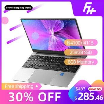 """Funhouse J4115/N4100 procesor Laptop ultra-cienki biznes biuro 15.6-Cal nowy przenośny Internet dostosowanie 15.6 """"169 256GB"""