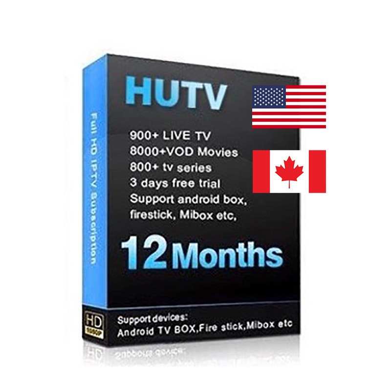 HUTV 1 Year Service With US Canada IPTV Service It Works On Firestick Mibox Etc All Android Devices
