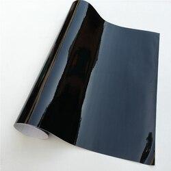 Glänzend Schwarz Vinyl Auto Wrap Film Rolle Folie Aufkleber Aufkleber Selbst Klebe Vinyl Blase Freies Konsole Computer Laptop Haut Telefon