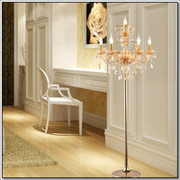 Crystal Floor Lamp 100 300w Bed Room Ac 220v 6 Lights Stand Light Fixture Cristal Standing Lamp