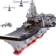NAVY Military Creator Building Blocks Sets ARMY 1:450 Aircraft Carrier Cruiser Warship Battleship Submarine Weapon DIY Kids Toys wenhsin assembling model warship 1 700 u s a warship navy new york battleship bb34 warship 06711