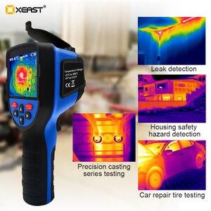 Image 3 - Szybka dostawa XEAST 3.5 Cal duży ekran podczerwieni ręczna kamera termowizyjna HD obraz XE 31 160*120 / XE 32 220*160