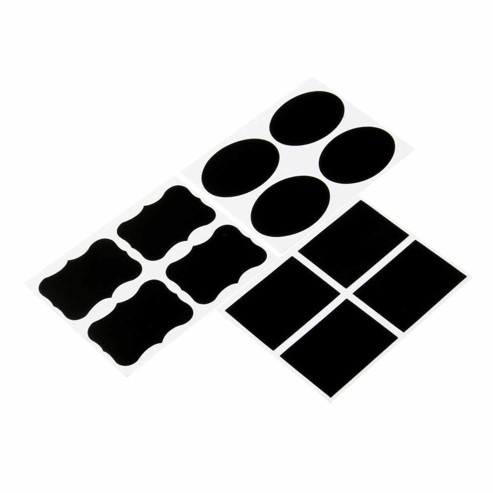 36Pcs DIY 칠판 칠판 분필 보드 스티커 공예 주방 항아리 레이블 3 모양 병 플래너 장식 Decals 태그