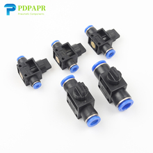 цена на HVFF Pneumatic Fitting For Air/water 2 Way Quick Fittings Push Connector Tube Hose Plastic 4mm 6mm 8mm 10mm 12mm Pneumatic Parts