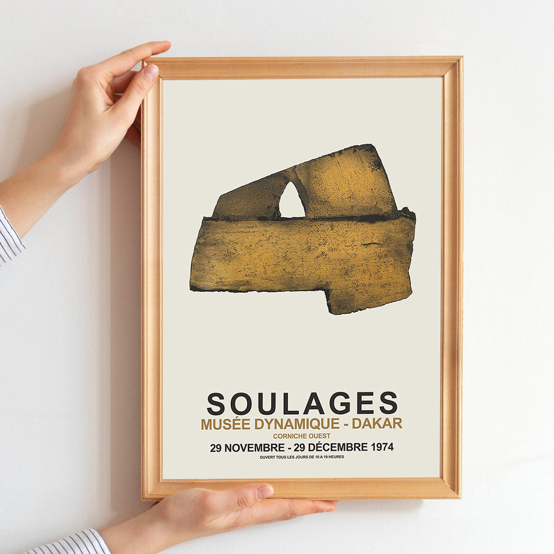 Pierre Soulages poster Soulage print Abstract art poster Museum exhibition Art prints Exhibition print Soulages Exhibition poster