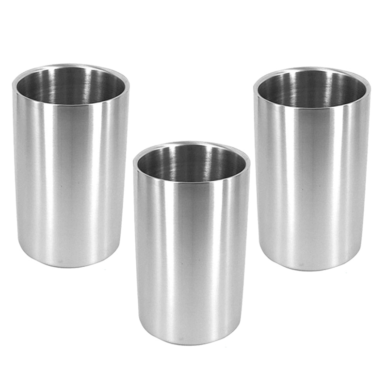 3 Pcs Wine Chiller Bucket,Stainless Steel Double Wall Cooler Bucket, Insulated Champagne Beer Ice Bucket