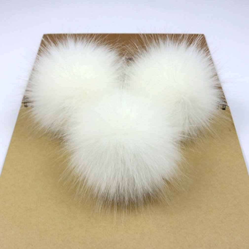 Nette Fox Fell Pompon Abnehmbarer Pelz Flauschigen Bobble Ball mit Drücken Sie Taste für DIY Hüte Mützen Taschen Kleidung Schuhe Decor 2018