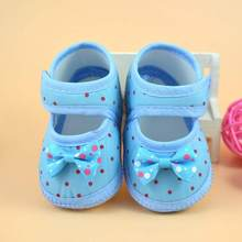 Infant Baby Bowknot Boots Soft Crib Shoes First Walkers Booties Cute Toddler Shoes Anti-slip Cotton Footwear Children Kid Shoes(China)