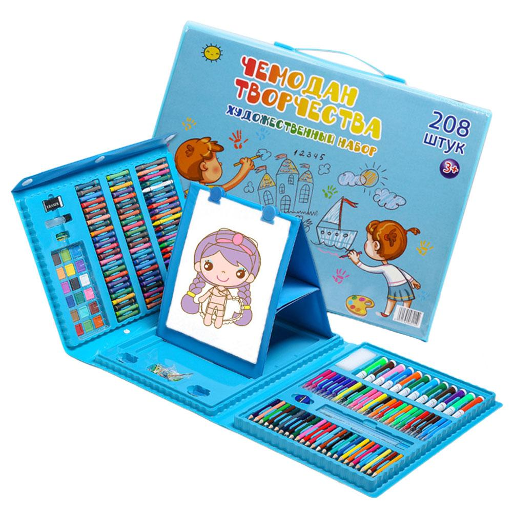 Colored Painting Drawing Art Artist Set 208pcs Artist Kit Painting Crayon Marker Drawing Tools Set Drawing For Kids Child