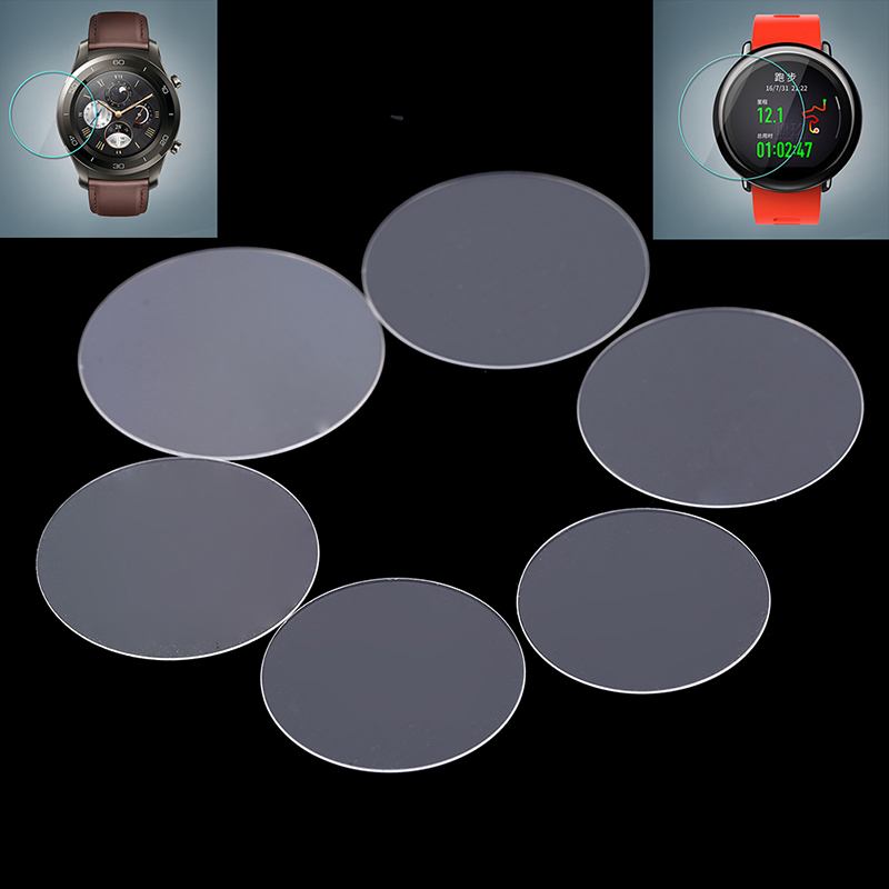 Universal Round Tempered Glass Protective Film Screen Protector Cover For Smart Watches Smartwatch Smart Accessories