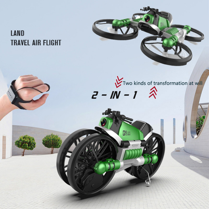 2020 NEW Product Land And Air Deformed Motorcycle Four-Axis Folding Four-Axis Aircraft Land-to-Air UAV