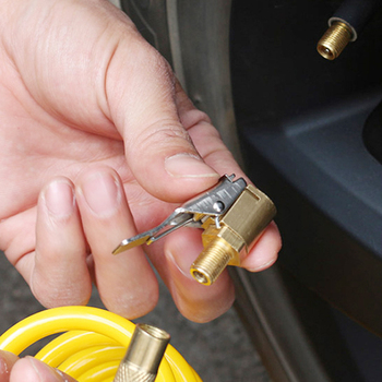 1PC samochodów Auto mosiądz 8mm opona koła uchwyt pneumatyczny pompka inflatora zawór zacisk Adapter złącza akcesoria samochodowe dla sprężarki tanie i dobre opinie EAFC Pompy 0 8cm