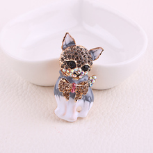 Beadsland Alloy Inlaid Rhinestone Brooch Puppy Modeling Fashionable High-end Clothing Accessories Pin Woman Gift MM-461