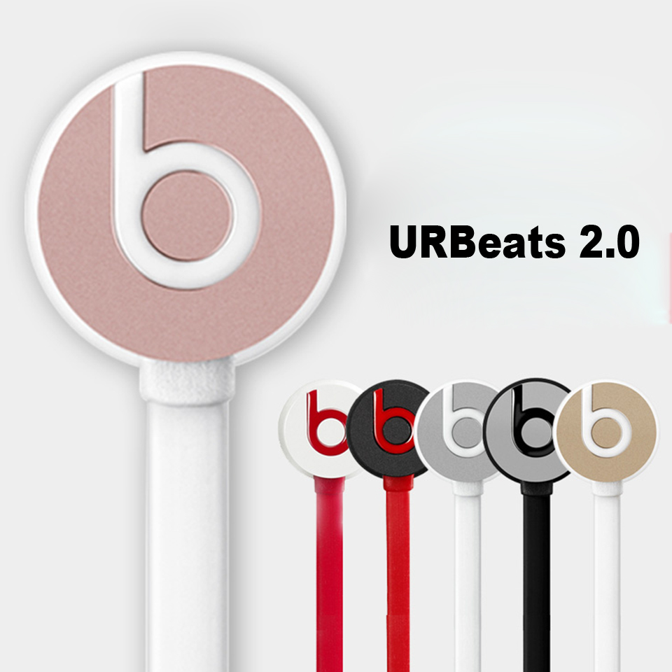 Beats urBeats 2.0 3.5mm Wired Earphones Stereo Bass Sport Headset Line Control Earbuds Handsfree RemoteTalk with Mic for iPhone 2