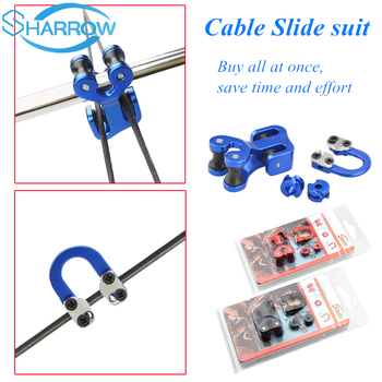 1Set Archery 1/8 3/16 Peep Sight D loop Cable Slide String Separator Protector Compound Bow Archery Shooting Accessories 3 8 aluminum archery cable slide compound bow string splitter roller glide cable slide bow string separator for compound bow