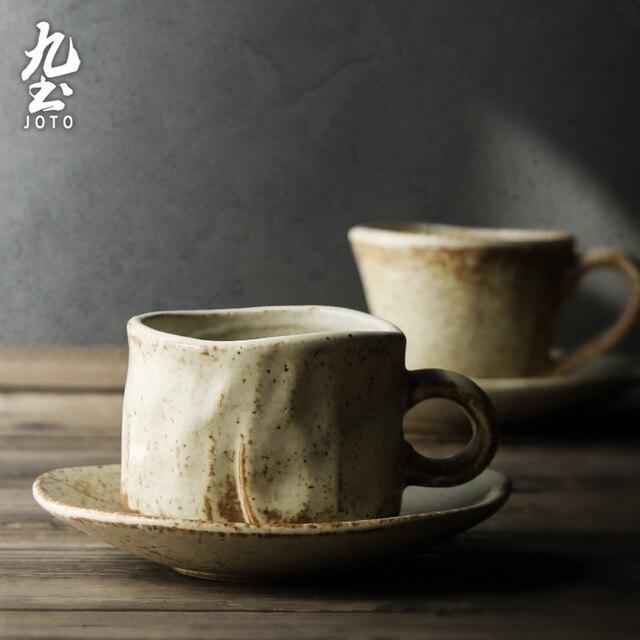 Ensemble de tasse à thé Vintage en porcelaine avec soucoupe petites tasses à café du japon poterie à la main en céramique Xicara Porcelana conteneur LL50CC