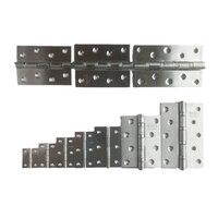 20 piezas de acero inoxidable Puerta Abierta plana plegable 1 5 pulgadas 2 pulgadas 2 5 pulgadas 3 pulgadas bisagra silenciosa de 3 5 pulgadas