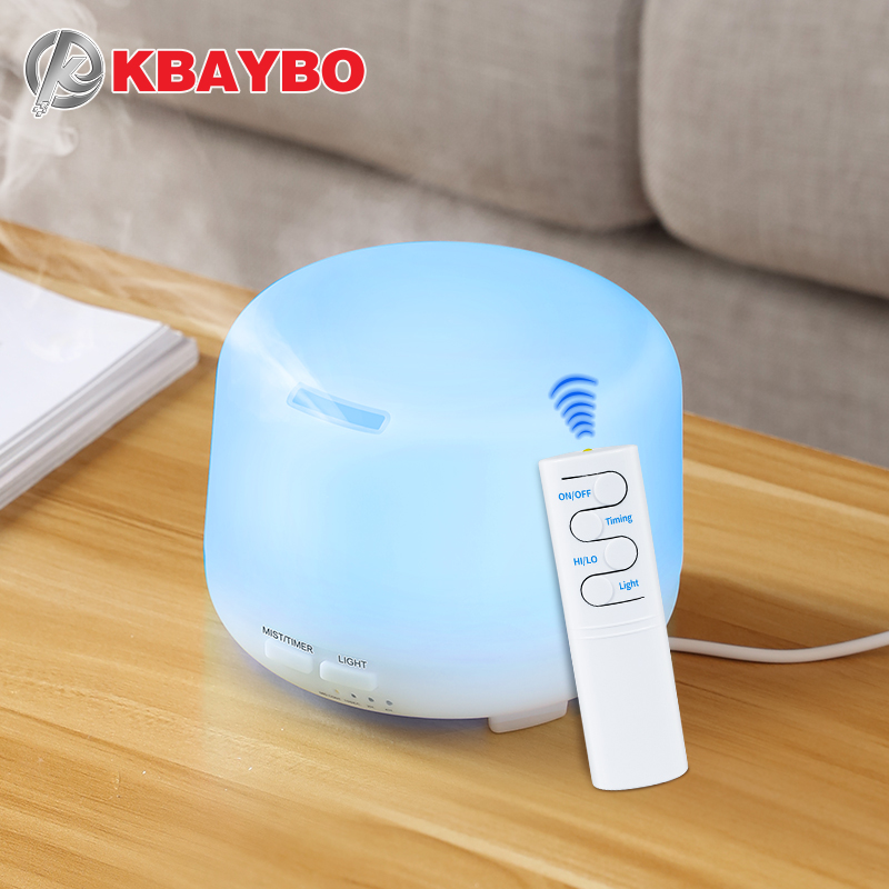 300ml USB Remote Control Ultrasonic Air Aroma Humidifier 7 Color LED Lights Electric Aromatherapy Essential Oil Aroma Diffuser