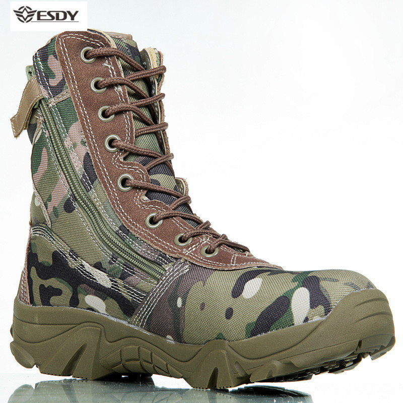 2019 New Tactical Boots Mountaineering Boots Military Boots Men's Outdoor Hiking Shoes Non-slip Shoes Climbing Mountain Shoes